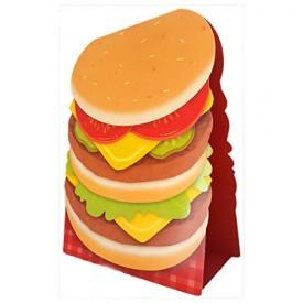 Hallmark Extra Large Happy Birthday Greeting Card & Display 11 x 16 Hamburger