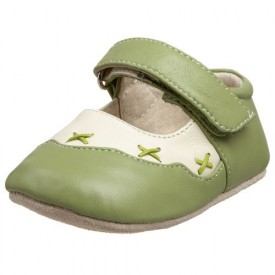 Smaller by See Kai Run Holly Mary Jane (Infant/Toddler),Cream/Green,0-6 Months (US Infant 2-2.5 M)