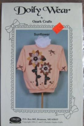 Doily Wear by Ozark Crafts Sunflower Applique Sewing Pattern #819