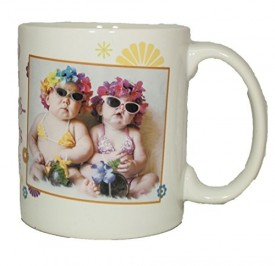 Leanin Tree Ceramic 12oz Coffee Mug Humor Our Good Looks Say Were Sisters…Our Hearts Say Were Friends Morning Coffee Funny Gift Mugs (MGW56246)