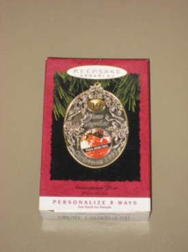 1993 Hallmark Keepsake Ornament - Anniversary Year - Photo Holder - Personali...