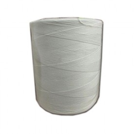 White Sewing Thread 13/4 Poly 20 Pound Cone