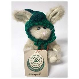 Boyds Bear Hare Peapod The Rabbit Green Knit Peapod Veggie Cap 6 Retired