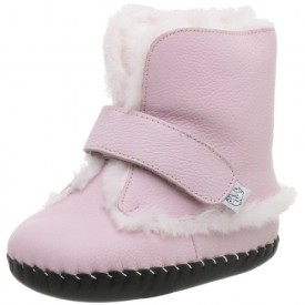 pediped Originals Hannah Crib Shoe (Infant),Pink,Extra Small (0-6 Months)