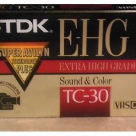 TC30EHG VHS-C Analog Videocassette