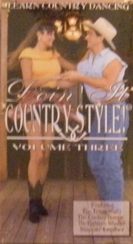 Doin It Country Style Vol. 3 [VHS] [VHS Tape] (1992) Learn Country Dance