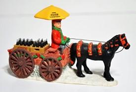 Coca Cola Town Square Collection Horse Drawn Wagon Coke Delivery & Coke Accessory #7910