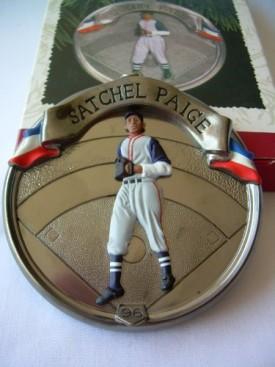 1996 Hallmark Ornament Satchel Paige # 3 Baseball Heroes Series