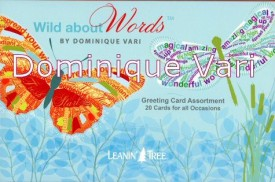 Dominique Vari Wild about Words 20 Greeting Card Assortment #90770