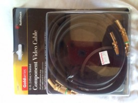 Radio Shack Gold Series Shielded Component Video Cable 12-ft. (3.65m) 15-1564