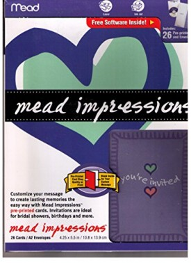 Mead Impressions Genral Invitations, 26/Invites [Health and Beauty]
