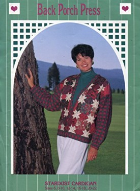 Back Porch Press Stardust Cardigan Women's Quilted Pattern Sizes 6-22