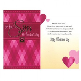 Valentines Day Greeting Card - For You, Son On Valentines Day [Office Product]