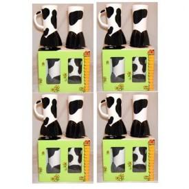 Cowfeet Coffee Mugs Case of 4 Gift Box Sets of 4 Each (16 Mugs Total)