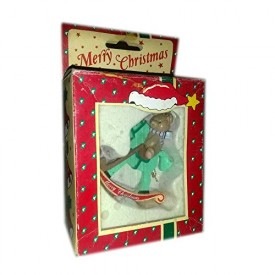 Vintage Kenley Corp Merry Christmas Rocking Horse Ornament