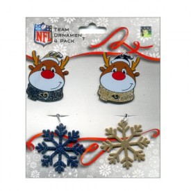 Forever Collectibles NFL St. Louis Rams Team Ornament 4 Pack