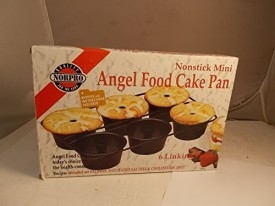 Norpro 6 Nonstick Mini Angel Food Cake Pan New With Recipes Linking Pans