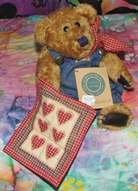 Boyds Bears & Friends Plush Bear - Delbert 10 Quilt Patch Bear
