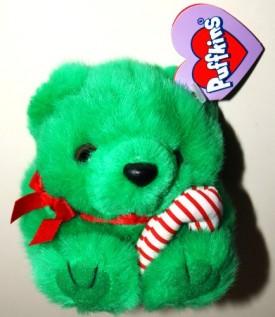 Puffkins Bean Bag Plush - Jingles The Christmas Bear