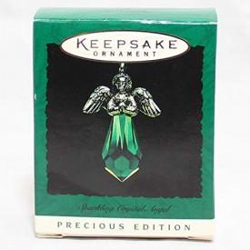 Hallmark Keepsake Miniature 1996 Sparkling Crystal Angel Green