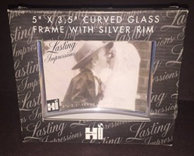 International Housewares Corp Glass Picture Frame with Silver Accent 5x3