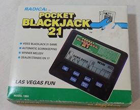 1992 Radica Pocket Blackjack 21 LCD Handheld No. 016-9-101 [Toy]