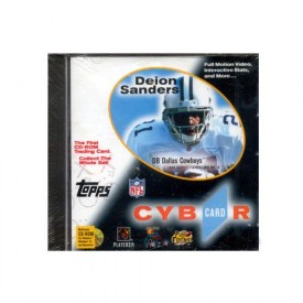 Neion Deion Sanders, Cyber Trading Card on Dvd [CD-ROM] by topps