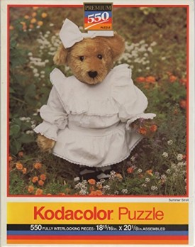 Unopened Vintage 1994 Kodacolor 550 Piece Puzzle SUMMER STROLL Bear - Jigsaw 13 x 19 Inches Casse-Tete 550 Fully Interlocking Pieces by Roseart Industries