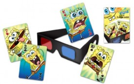 Bicycle SpongeBob Squarepants 3D Playing Cards and 3D Viewing Glasses