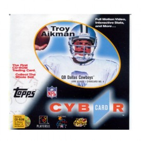 Topps CyberCard No. 4 1996 Series Troy Aikman [CD-ROM] by Topps