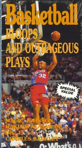Basketball Bloops and Outrageous Plays [VHS Tape] (1998) Magic Johnson, Hakee...