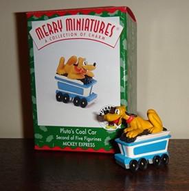 Disney Plutos Coal Car 1998 Hallmark Merry Miniature