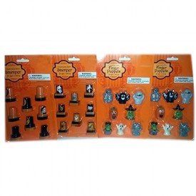 Halloween Party Favors Pack - Stampers & Finger Puppets [Health and Beauty]
