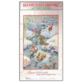 Vintage Hallmark Holiday Puzzle Greeting Card