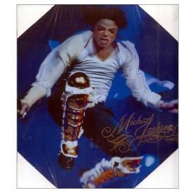 Michael Jackson Canvas Concert Jump Pose Print 11 x 11 Wall Art