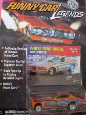 Johnny Lightning Funny Car Legends White Bear Dodge Tom Hoover 1971