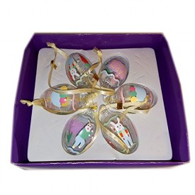 Hand Crafted Glass Easter Ornaments Set of 6 Style No. H63174