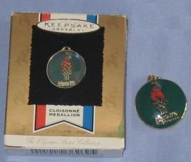 Hallmark Keepsake Ornament Cloisonné Medallion From The Olympic Spirit Collection, Atlanta 1996