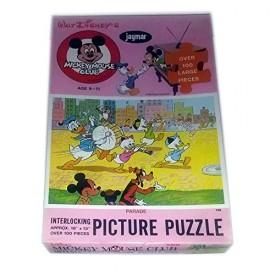 Vintage 1960-70s Jaymar Walt Disneys Mickey Mouse Club Puzzle Over 100 Pieces