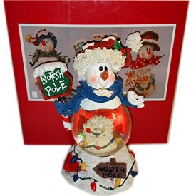 RSVP International Snowman Snow-globe North Pole 45 MM Mini No. 36003