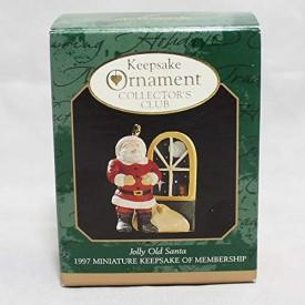 Hallmark Jolly Old Santa QXC5145 1997 Miniature Keepsake of Membership