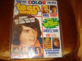 Teen World Donny & Marie Osmond, David Cassidy, Susan Dey, Maureen McCormick December 1974 (Collectible Single Back Issue Magazine)