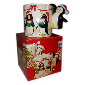 AMC Japan Fine Ceramic Holiday Penguin Mug No. 759720