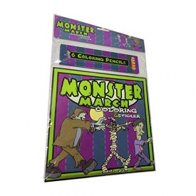 Monster March Coloring Book (Paperback)
