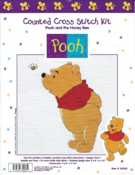 Pooh and the Honey Bee Counted Cross Stitch Kit 34005
