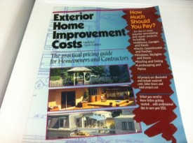 Exterior Home Improvement Costs: The Practical Pricing Guide for Homeowners & Contractors (Paperback)