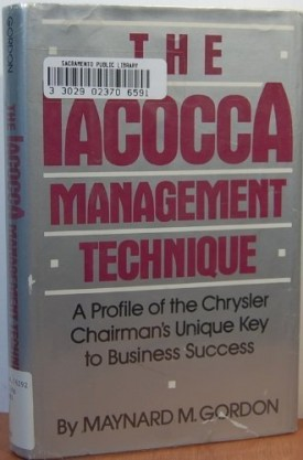 The Iacocca Management Technique (Hardcover)