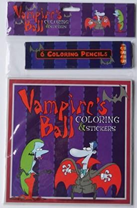 Halloween Vampires Ball Coloring Kit (Paperback)