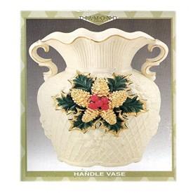 Diamond Collection Holiday Handle Vase