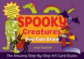 The Amazing Step-by-Step Art Card Studio: Spooky Creatures You Can Draw (Paperback)
